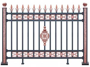 铝合金围墙护栏38